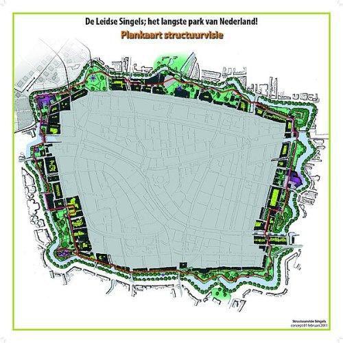 Kaart van het langste park van Nederland op de website van de gemeente