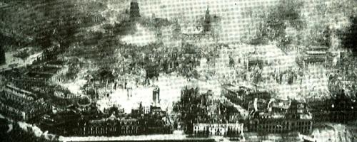 Dresden brandt