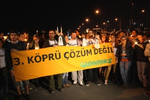 Protest derde brug