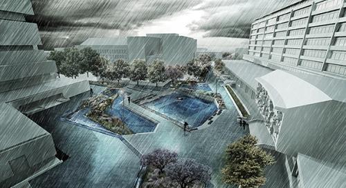 Waterplein Benthemplein Rotetrdam door de Urbanisten